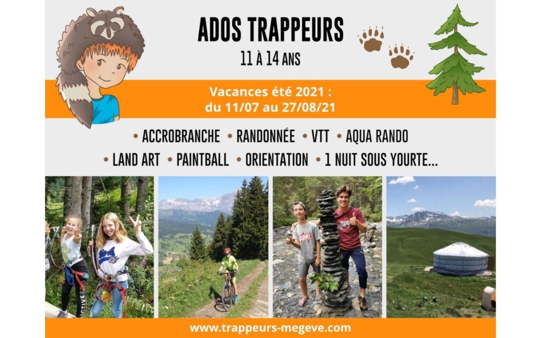 Les ADOS TRAPPEURS 11/14 ans